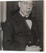 Booker T. Washington 1856-1915, Became Wood Print