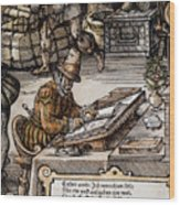 Bookkeeper, 16th Century Wood Print