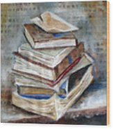 Books Gerdasmitart Wood Print