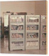 Bookshelves Wood Print