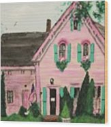 Bookstore In Cape Cod Wood Print by Suzanne  Marie Leclair