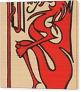 Bookworm 1896 Wood Print
