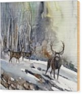 Boone And Crockett Wood Print