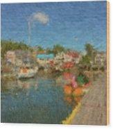 Boothbay Harbor At 5 Wood Print