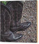 Boots 2  Wood Print