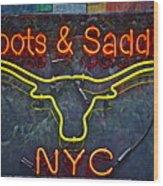 Boots And Saddle Nyc Wood Print