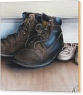 Boots And Shoes Wood Print