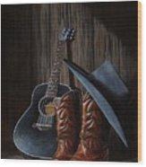 Boots Wood Print by Antonio F Branco