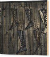 Boots Anyone? Wood Print