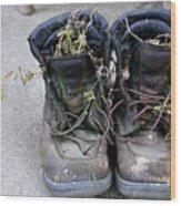 Boots Wood Print