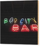 Bop City Wood Print