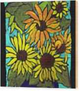 Boquet Of Sunshine Wood Print