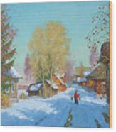 Bor Village Wood Print