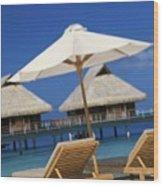 Bora Bora, Beach Wood Print