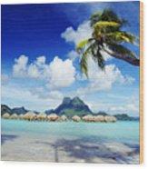 Bora Bora, Lagoon Resort Wood Print by Himani - Printscapes