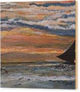 Boracay Sunset Wood Print
