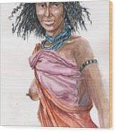 Boran Woman Wood Print