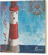 Bord De Mer Wood Print by Debbie DeWitt