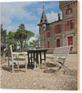 Bordeaux Chateau Wood Print