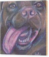 Bordeaux Mastiff Portrait Wood Print