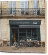 Bordeaux Storefront Wood Print