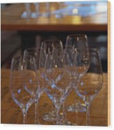 Bordeaux Wine Glasses Wood Print