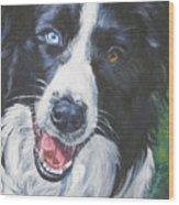 Border Collie Wood Print