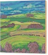 Border Country Wood Print