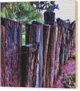 Border Wood Print