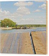 Border On Zambezi River Wood Print