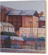 Borderland Mills Wood Print