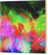 Borealis Explosion Rupture Wood Print