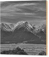 Boreas Mountain And Siblings Wood Print