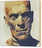 Boris Karloff, The Mummy Wood Print