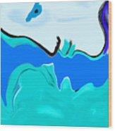 Born Of The Ocean Wood Print