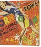 Born To Dance 1936 Retro Movie Poster Wood Print