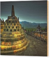 Borobudur Temple Central Java Wood Print
