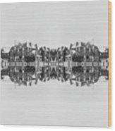 Winter Brick Saint Albans Wood Print