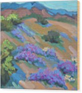 Borrego Springs Verbena Wood Print