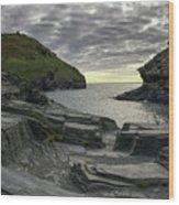 Boscastle Headland Wood Print
