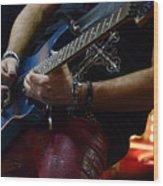 Boss Guitar Player Wood Print by Bob Christopher