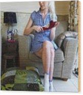 Bossy Schoolgirl Wood Print