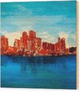 Boston Abstract Wood Print