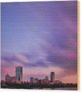 Boston Afterglow Wood Print by Rick Berk