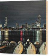 Boston Along The Charles River Wood Print