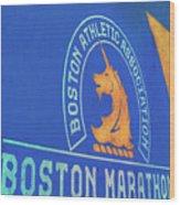 Boston Athletic Association - Boston Marathon Wood Print