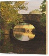 Boston Bridge Reflections Wood Print