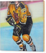 Boston Bruins Ray Bourque Wood Print