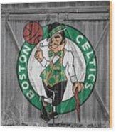 Boston Celtics Barn Doors Wood Print