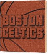 Boston Celtics Leather Art Wood Print